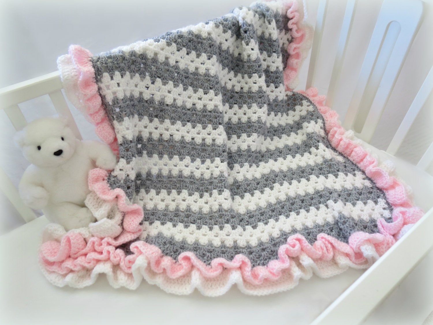 Crochet baby blanket pattern baby crochet blanket afghan crochet baby blanket pattern baby crochet blanket afghan crochet pattern little granny ruffle crochet patterns by deborah oleary bankloansurffo Gallery
