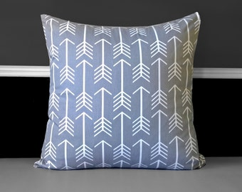 """Pillow Cover - Arrows Grey 20"""" x 20"""", Ready to Ship"""