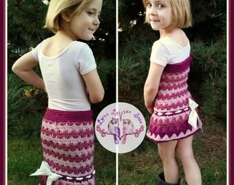 PATTERN: Autumn Waves Skirt (Doll/Preemie to Adult)