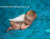 Newborn Angel Wings READY TO SHIP Teal Baby Angel Wings Sweet Heavenly Shimmer Wings And Headband Set Newborn Photo Prop