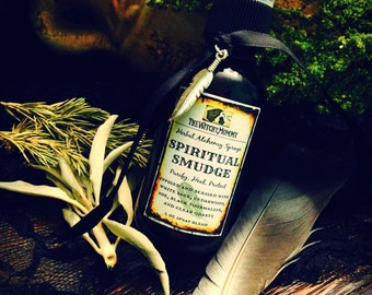 SPIRITUAL SMUDGE SPRAY - Herbal Alchemy Spray - Witchcraft, Magick, Ritual, Meditation