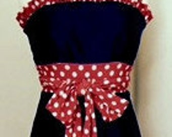 Little Miss Huddle Up - Ole Miss Game Day Dress