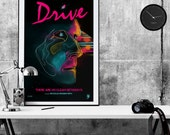 Drive Movie Poster pop art print - Movie poster print memorabilia- print home wall decor