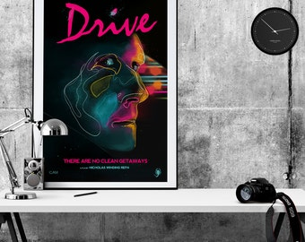 Drive Movie Poster pop art print - Movie poster print memorabilia- print home wall decor