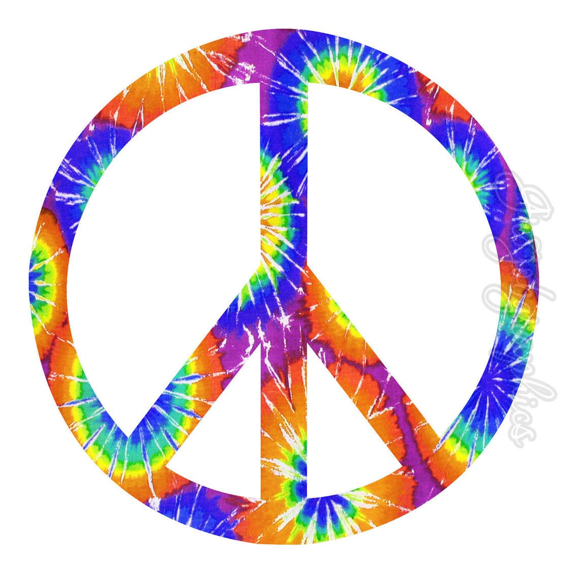 Peace Sign Tie Dye Wall Decal Wall Art Love Peace Peel And