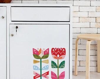 Scandi Flowers Removable Wall Sticker | LSB0185CLR-ASH