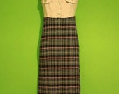 Vintage 90s Womens Plaid Maxi Dress Size Small Fall Grunge Hipster Streetwear