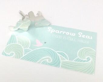 Maui Cuff Links, maui wedding, groom, solid sterling by Sparrow Seas