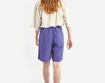 Large Blue Geometric Printed Shorts