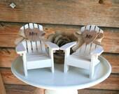 Adirondack Beach Chair Wedding Cake Toppers / Mr and Mrs Wedding Cake Topper Beach Chairs / Beach Chairs/Beach Wedding