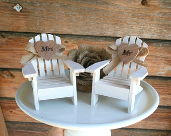 Adirondack Beach Chair Wedding Cake Toppers Mr And Mrs Topper Chairs