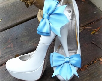 Wedding Shoe Clips, Bridal Shoe Clips, Satin Shoe Clips, Clips for Wedding SHoes, Bridal Shoes, MANY COLORS AVAILABLE, Shoe Clips