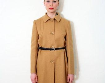 Vintage Camel Brown Wool Coat