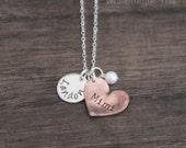Personalized Mimi Necklace - Custom Grandma Necklaces - Grandmother Jewelry with Grandchilds Name