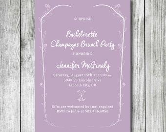 Bachelorette Party Invite - DIY Printable Bachelorette Party Invite