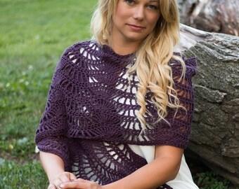 Wave Shawl Crochet Pattern