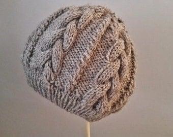 BREIDEN   Cable Knit Hat   Knitting Pattern PDF