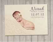 Birth Announcement Card / Magnet (Printable) by Vintage Sweet