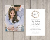 Watercolor Wedding Invitation (Printable) DIY by Vintage Sweet