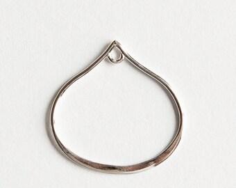 STORE CLOSING! PenSS402 - Sterling Silver Petal Teardrop Link