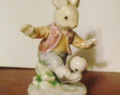 Soccer Bunny Figure Collectable Figurine