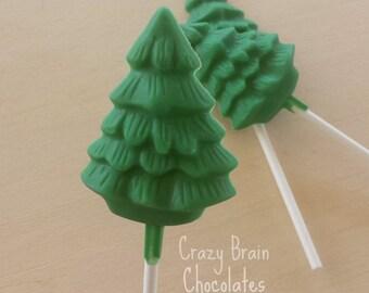 Solid Chocolate Christmas Treet Pops (12)