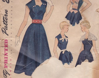 Unusual 1950s Dress Pattern Simplicity 3146 Size 14