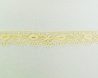 Antique torchon lace edge trim, 11 yards of medium weight cottage chic lace