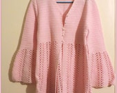 1960's Pink Hand Knit Three Piece Women's Outfit Size 10