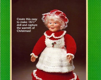 Mrs. Claus Crochet Doll Pattern Fibre Craft FCM153