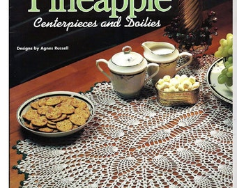 AHeirloom Pineapple Centerpieces and Doilies Crochet Pattern Book House Of White Birches 101054