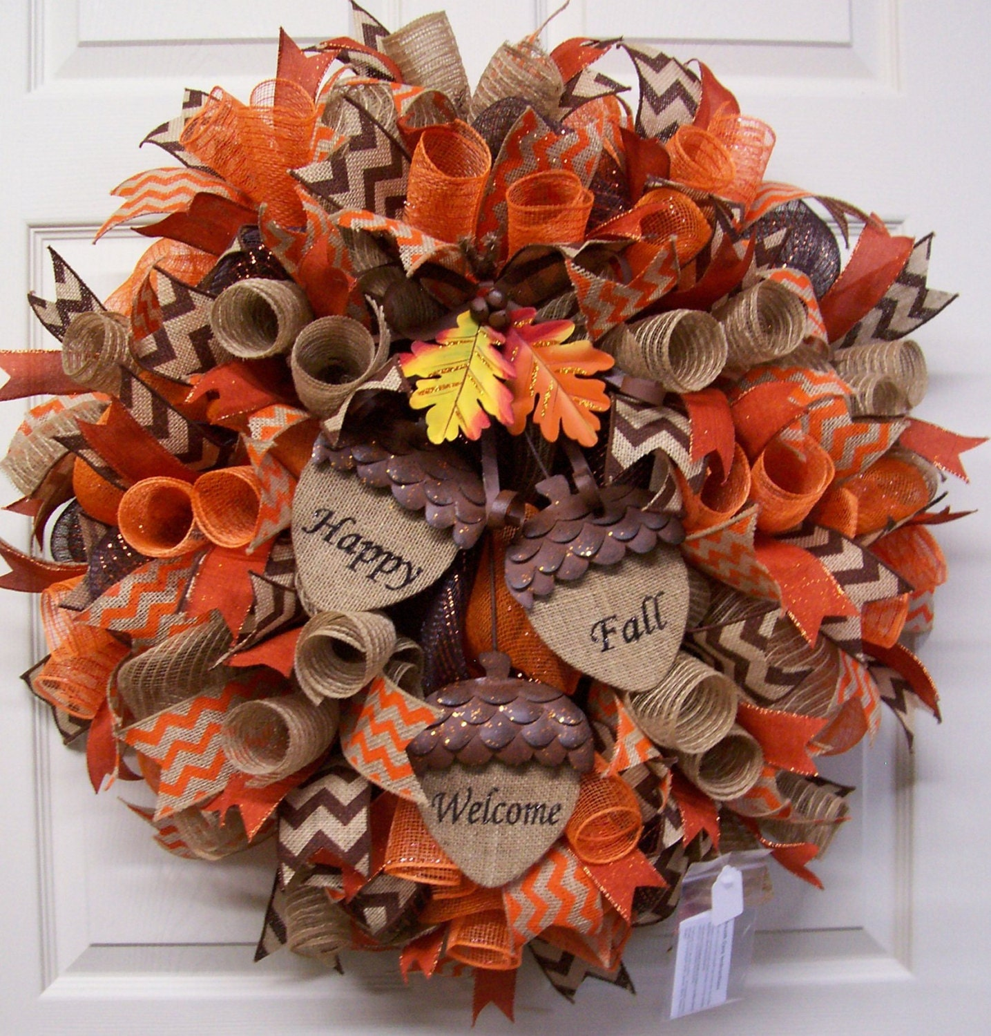12 Easy Diy Deco Mesh Wreaths For Fall: Fall Mesh WreathFall Burlap WreathFall Door By CherylsCrafts1