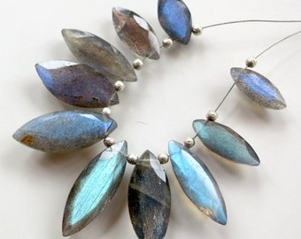 AAA Labradorite Faceted Marquis