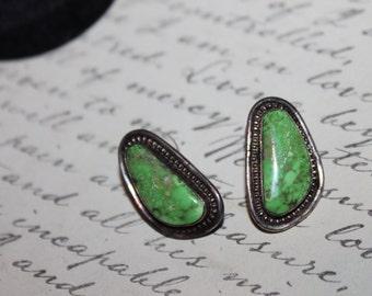 Vintage Southwestern Turquoise & Sterling Earrings