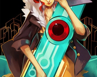 Transistor: Red High Quality Poster game supergiant