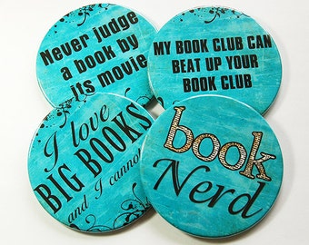 Drink Coasters, Coasters, Book Club Coasters, Hostess Gift, Humor, Tableware, Barware, Book Club, Funny Coasters, Wine Accessories (5095)
