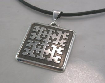 Solid Binary Tree Pendant Pendant