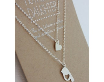 mother daughter necklace set daughter necklace gift valentine gift set jewelry gift - Valentine Gift For Daughter
