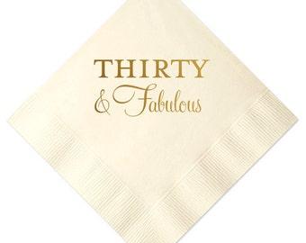 Thirty and Fabulous Napkins