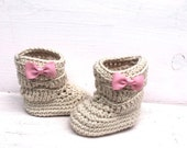 Baby Booties, Baby Girl Boots, Crochet Baby Boots