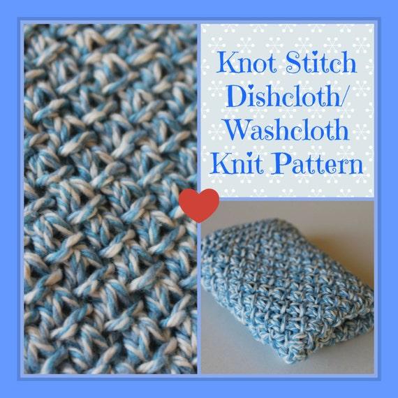 Knit Pattern Knot Stitch Dishcloth Wash cloth Instant