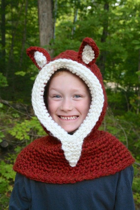 Crochet Fox Hooded Cowl Pattern : Zootopia Crochet PATTERN Fox Hooded Cowl CROCHET by ...