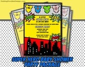 Superhero Baby Shower Printable Party Package