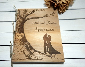 Guest Book, Wedding Guest Book, Wedding Shower, Rustic Wedding, Album, Memory Book, Photo Album, Personalized, Engraved, Firefighter Wedding