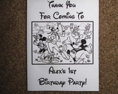 PDF FILE ONLY-- Mickey Mouse Clubhouse Inspired Personalized Coloring Pages Booklets Books Birthday Party Favors 1st