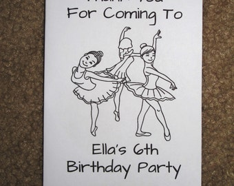 PDF FILE ONLY-- Ballerina Ballet Dance Inspired Personalized Coloring Pages Booklets Books Birthday Party Favors Tutu Ballet Shoes
