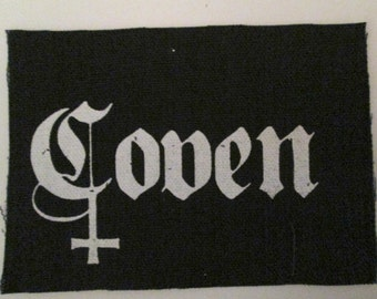 COVEN PATCH - on black canvas