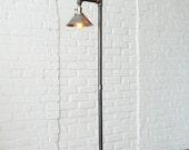 Industrial Floor Lamp - Metal Shade - Edison Bulb Lamp - Industrial Furniture