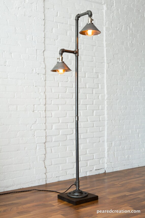 Industrial Floor Lamp Metal Shade Edison Bulb Lamp