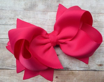 You pick color - boutique hair bow, custom bow, you choose boutique bow, 4 inch bow, boutique bows, girls hair bows, girls bows, toddler bow